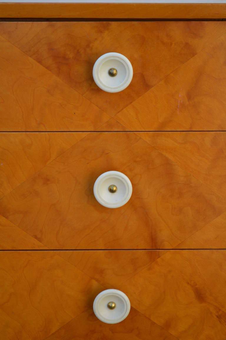 Swedish Harlequin Diamond Parquetry Chest of Drawers In Excellent Condition For Sale In Atlanta, GA