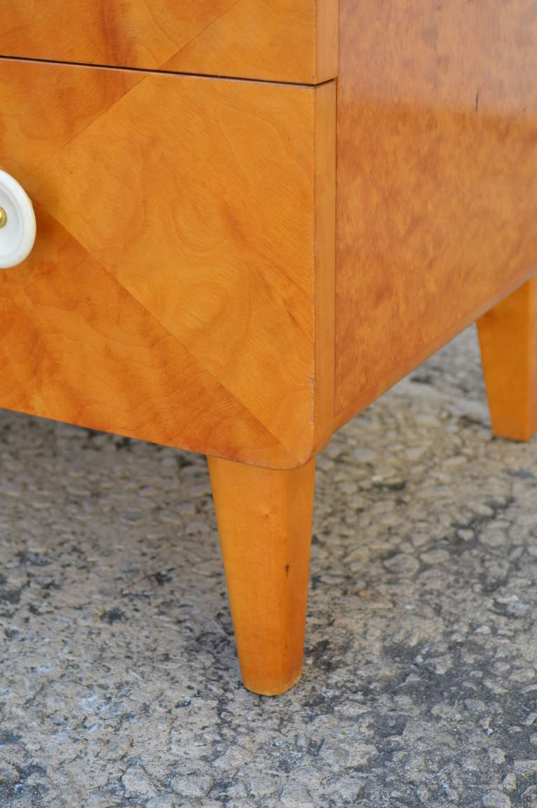 Mid-20th Century Swedish Harlequin Diamond Parquetry Chest of Drawers For Sale