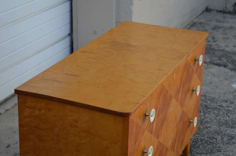 Swedish Harlequin Diamond Parquetry Chest of Drawers For Sale 2