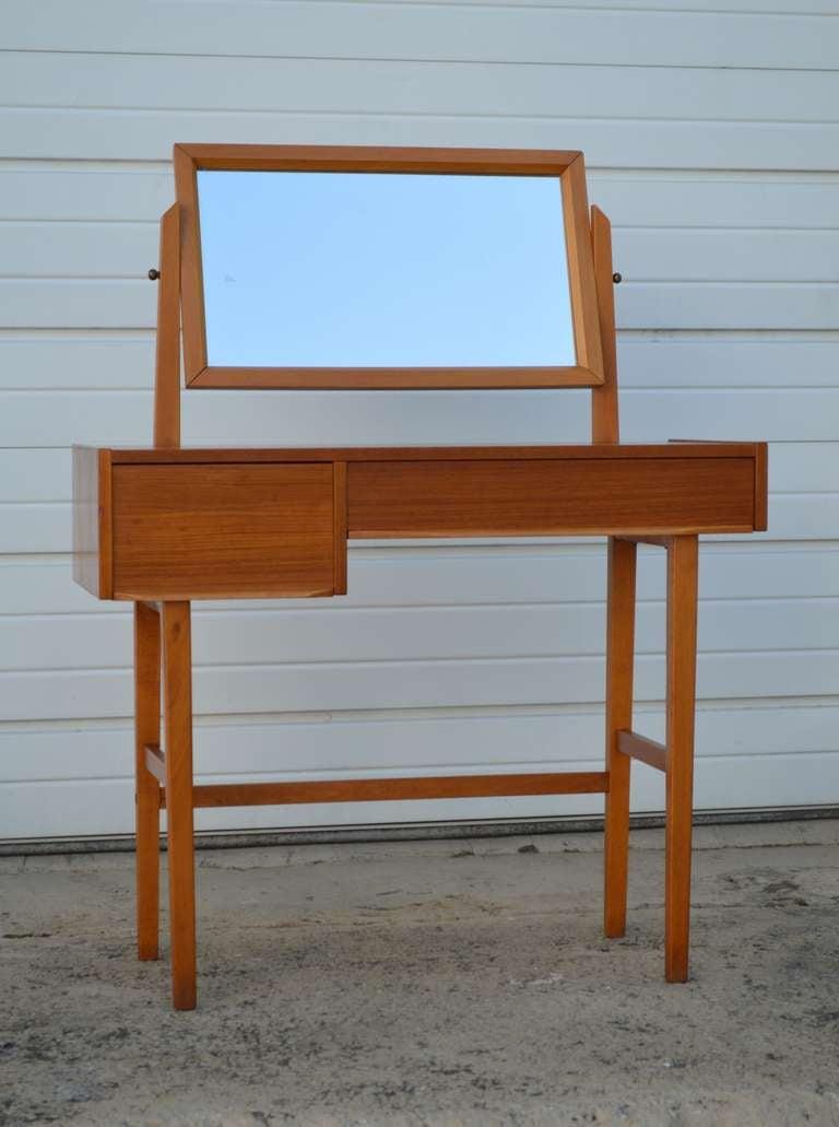 Modern Tabletop Vanity Mirror : Mid century swedish modern dressing table vanity with