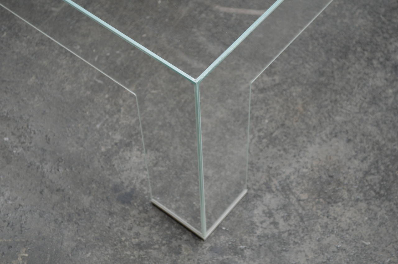Modern Square Lucite Ghost Coffee Table 3 - Modern Square Lucite Ghost Coffee Table At 1stdibs
