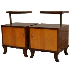 Pair of Rare Swedish Art Deco Nightstands
