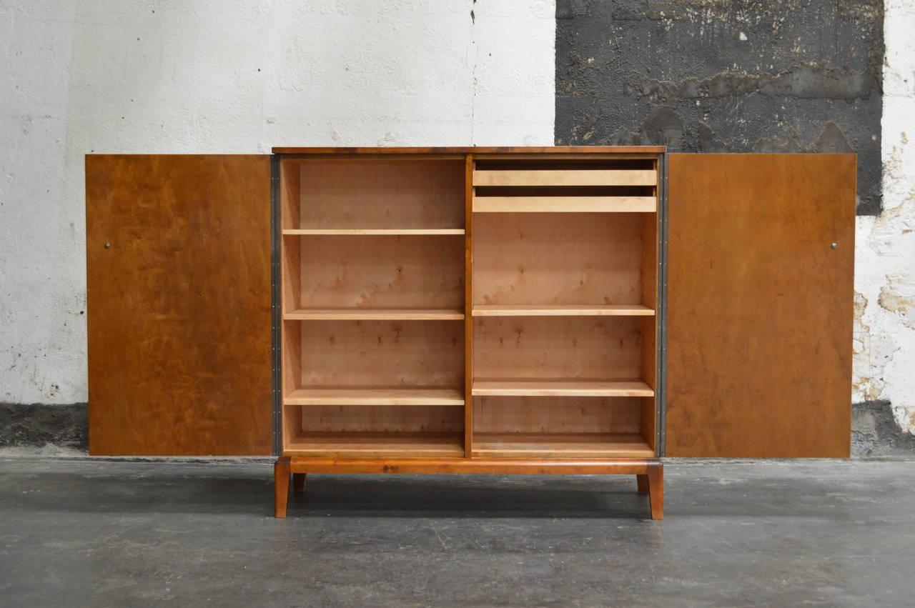 swedish art deco moderne intarsia storage bar cabinet at 1stdibs. Black Bedroom Furniture Sets. Home Design Ideas
