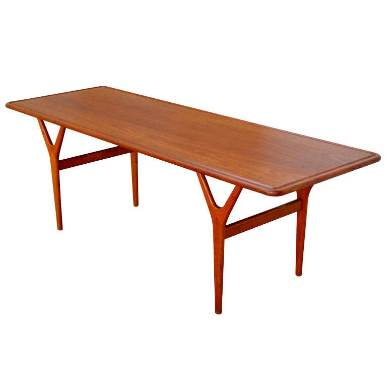 Mid-Century Teak Coffee Table by Kurt Østervig for Jason Møbler