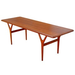 Mid-Century Teak Coffee Table by Kurt Østervig for Jason Møbler