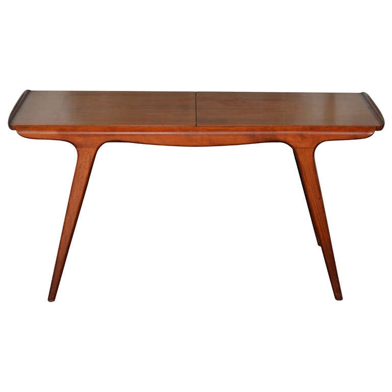 Danish Mid Century Aerodynamic Expanding Coffee Table At 1stdibs