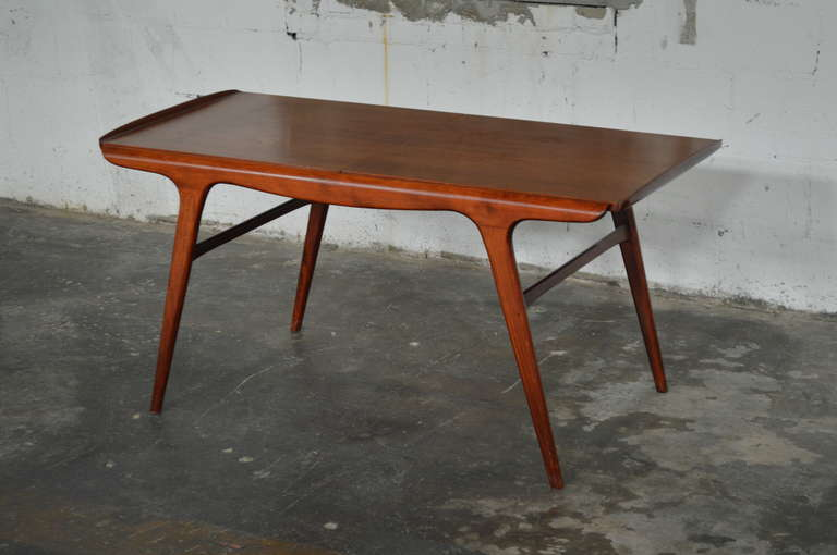 Danish Mid Century Aerodynamic Expanding Coffee Table For Sale At 1stdibs
