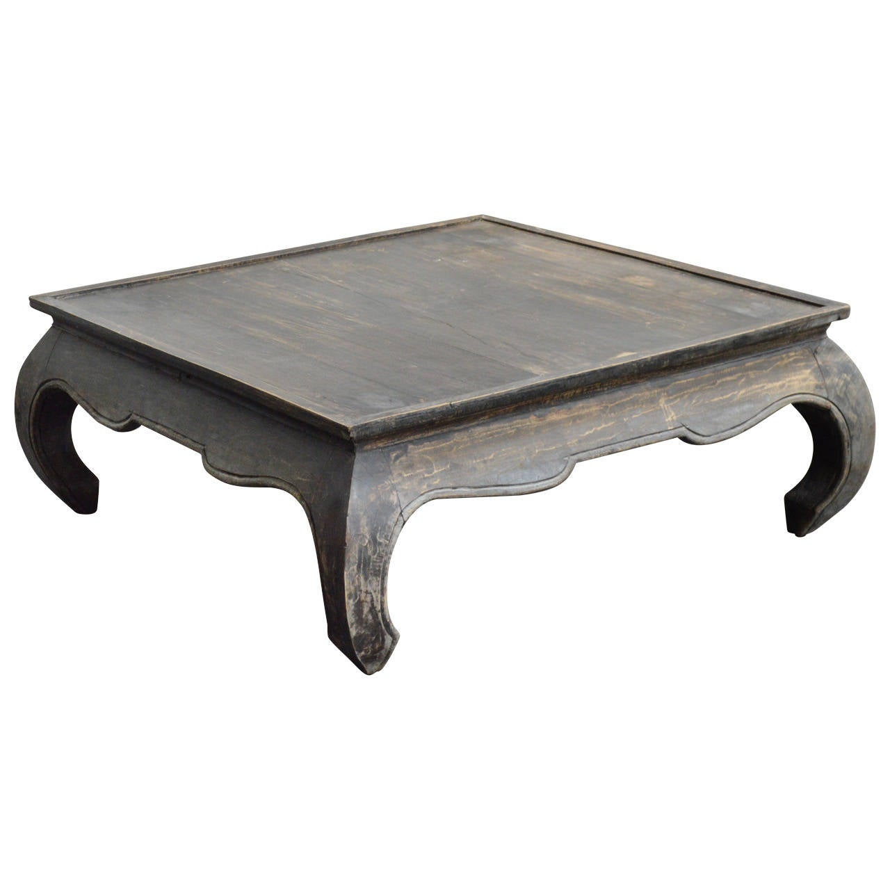 Vintage square opium leg coffee table at 1stdibs for Vintage coffee table