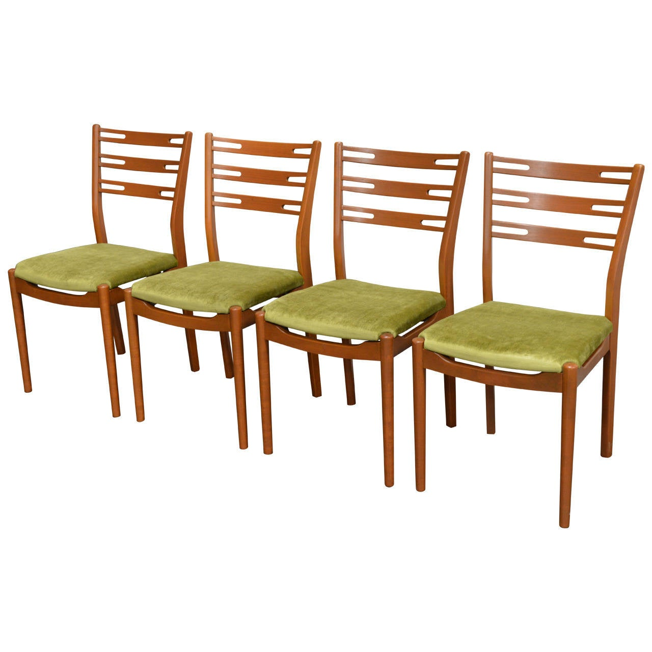 Set of Four Swedish Mid-Century Modern Teak Dining Chairs at 1stdibs