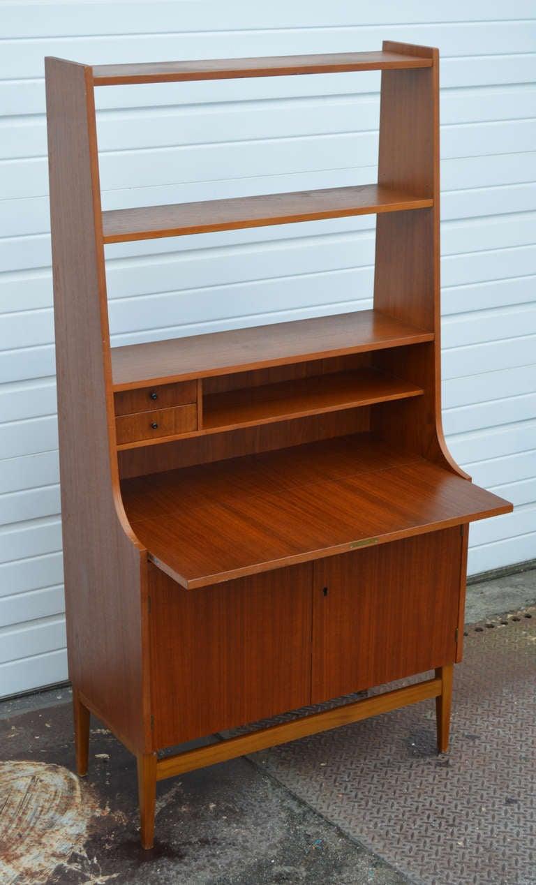 Swedish Mid Century Modern Mahogany Desk And Hutch At 1stdibs