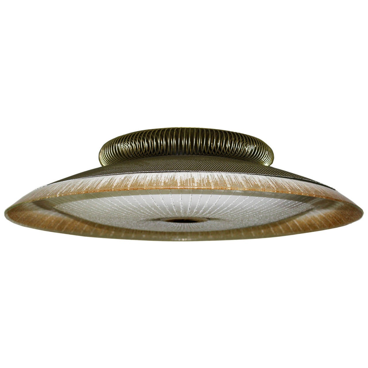 lightolier mid century ceiling fixture with murano glass. Black Bedroom Furniture Sets. Home Design Ideas