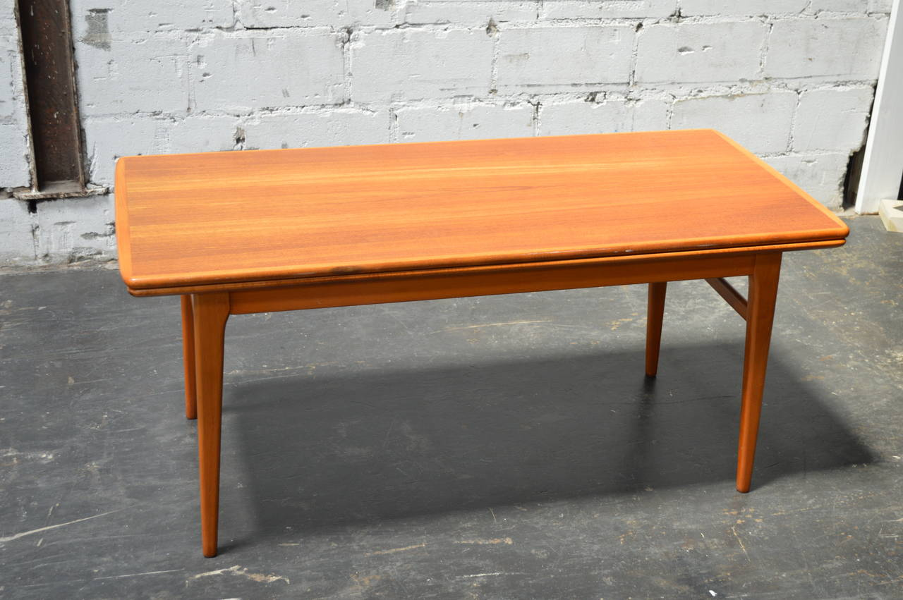 Swedish Mid Century Expandable Adjustable Height Coffee Table At 1stdibs