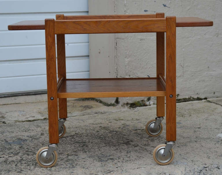 Mid-Century Teak Tea or Bar Cart Serving Trolley 3