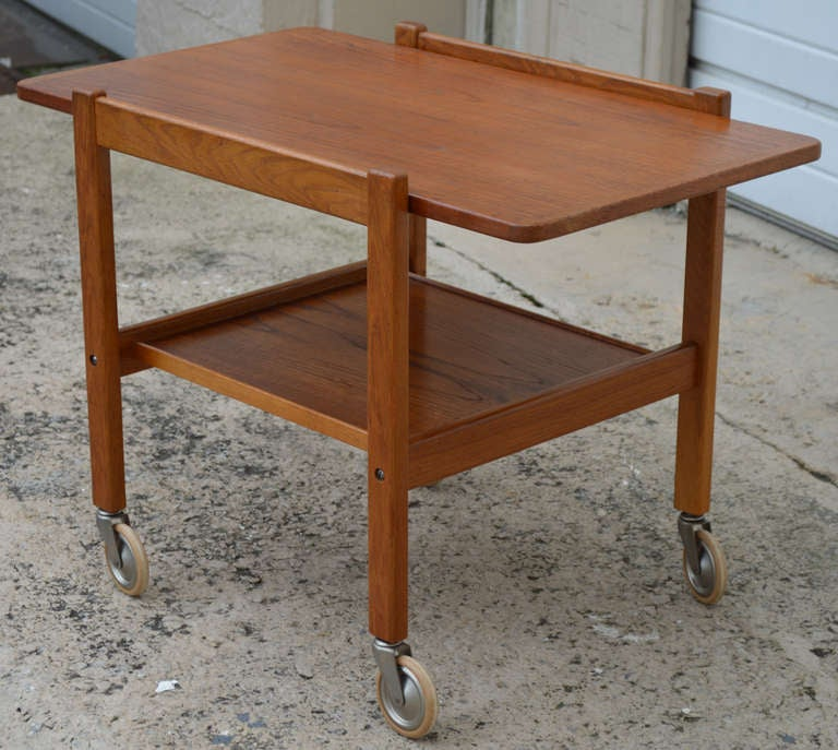 Mid-Century Teak Tea or Bar Cart Serving Trolley 4