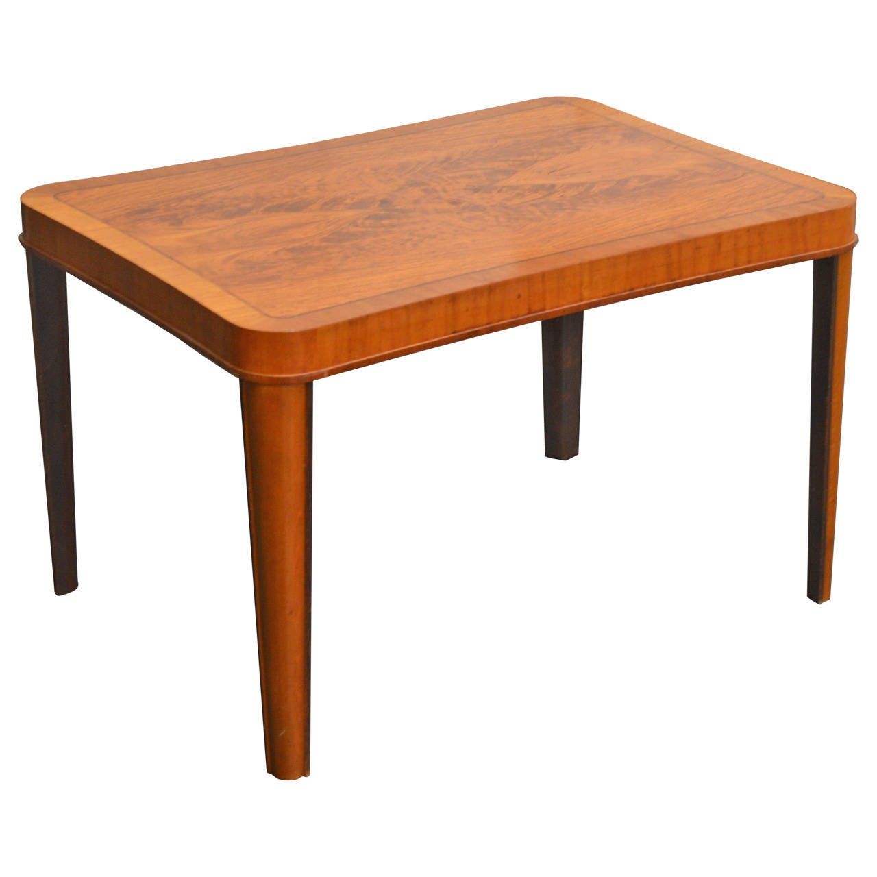 art moderne furniture. swedish art moderne walnut intarsia coffee or side table 1 furniture