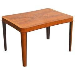 Swedish Art Moderne Walnut Intarsia Coffee or Side Table