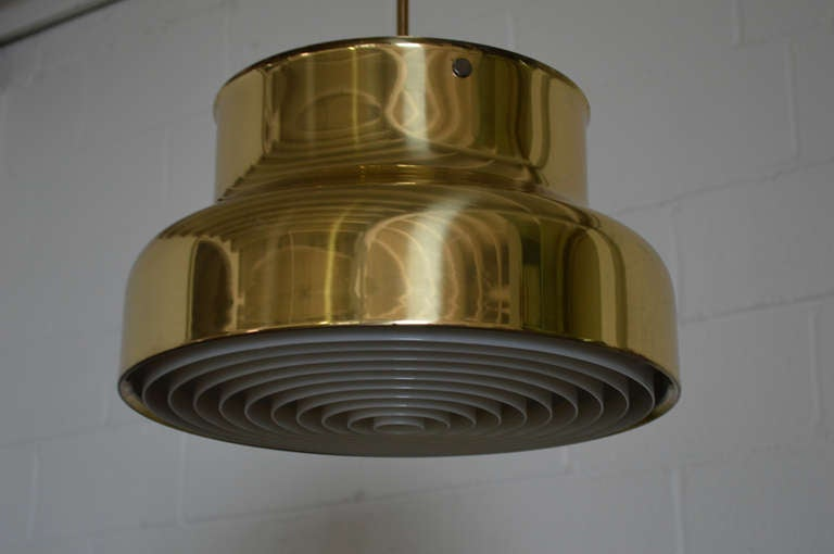 Swedish Brass Bumling Pendant by Anders Pherson for Atelje Lyktan 5