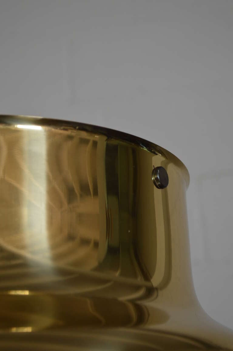 Swedish Brass Bumling Pendant by Anders Pherson for Atelje Lyktan 2