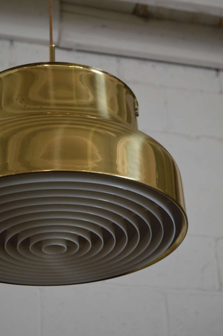Swedish Brass Bumling Pendant by Anders Pherson for Atelje Lyktan 3