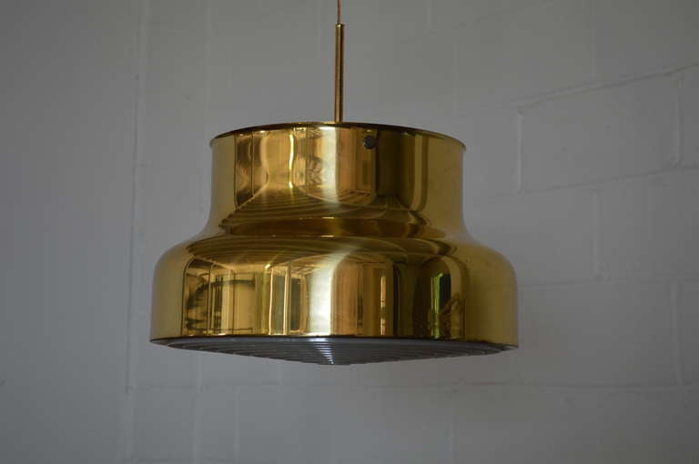 Swedish Brass Bumling Pendant by Anders Pherson for Atelje Lyktan 4