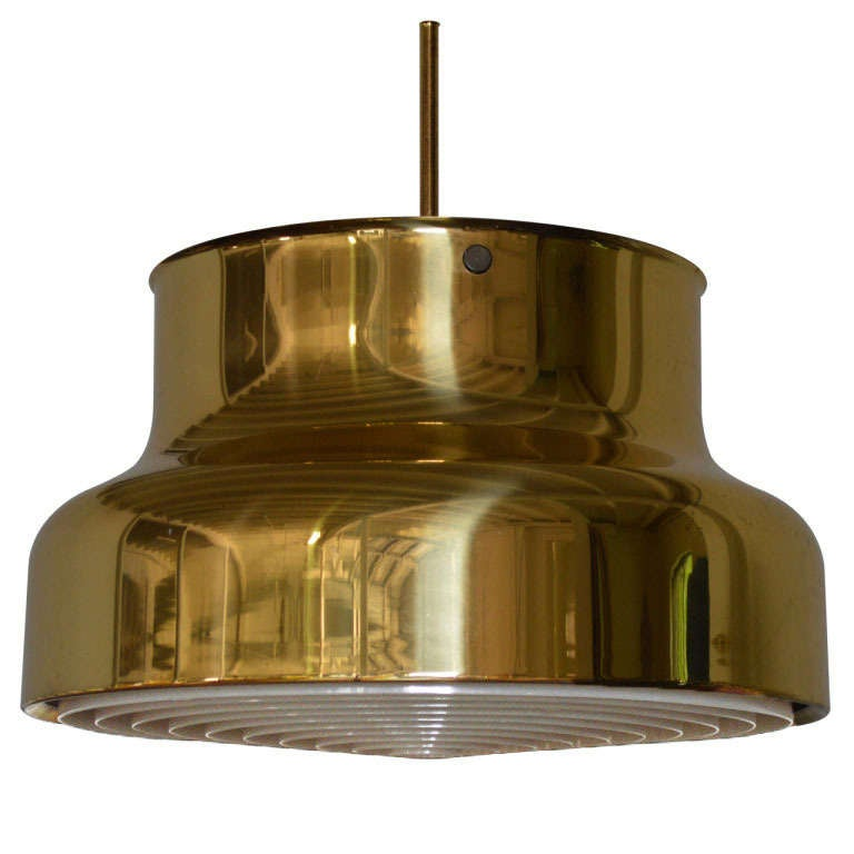 Swedish Brass Bumling Pendant by Anders Pherson for Atelje Lyktan 1