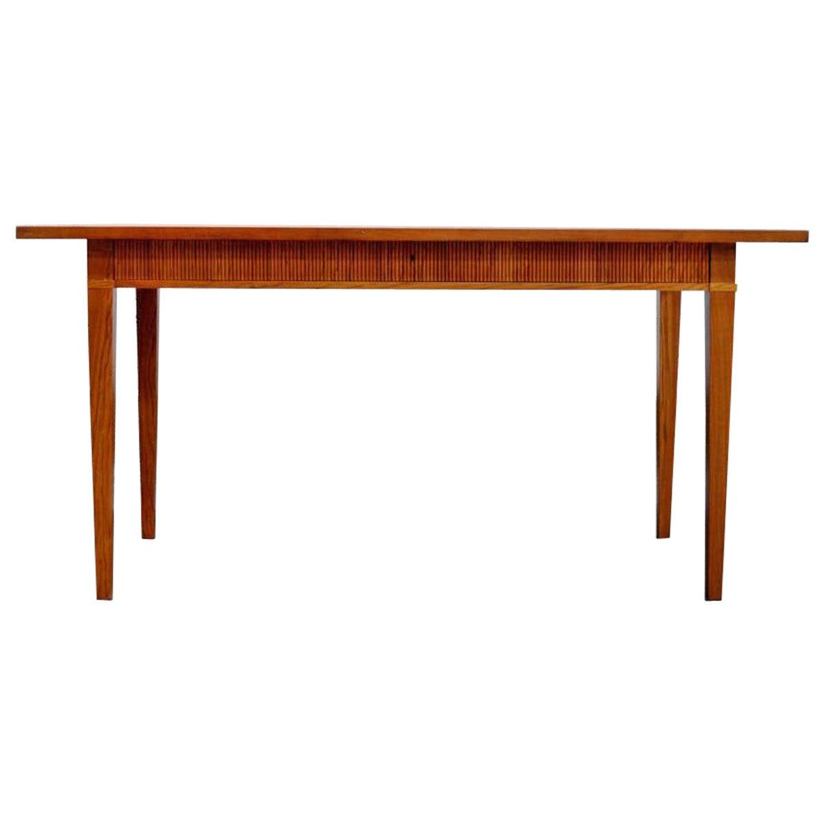 Swedish Walnut Desk by Nordiska Kompaniet at 1stdibs