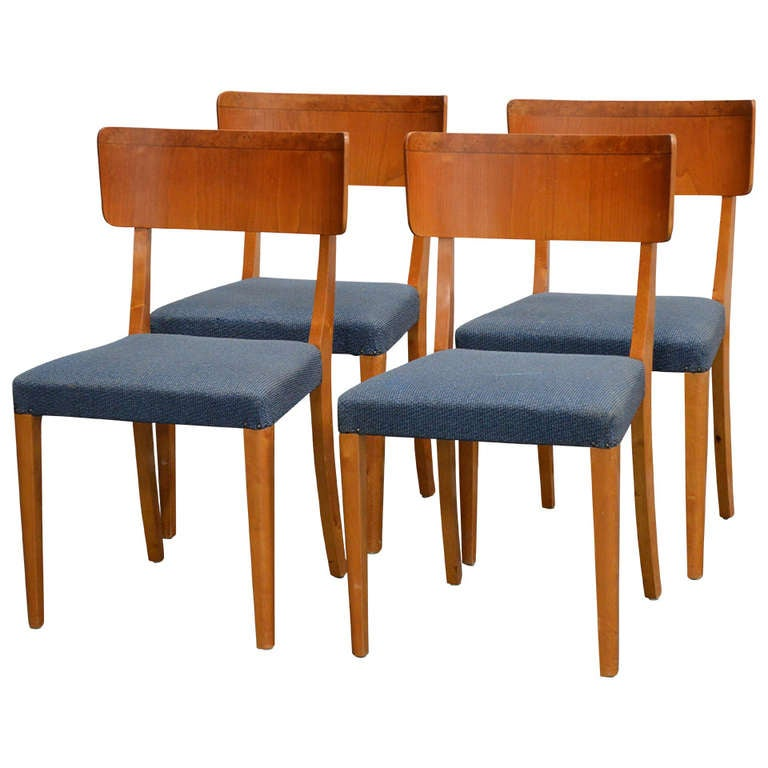set of four swedish art moderne dining chairs at 1stdibs