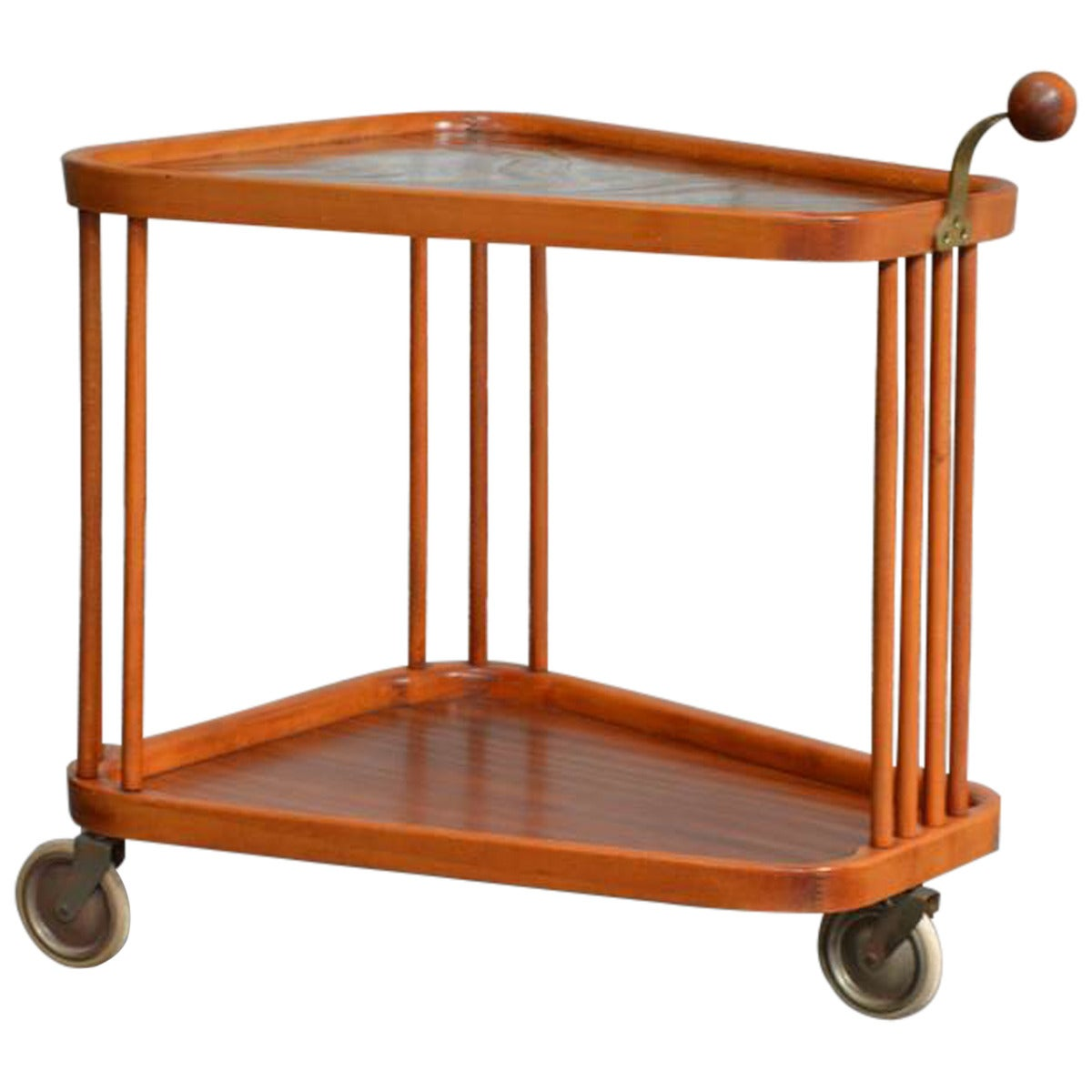 Swedish Art Deco Bar Cart by Axel Larsson for Bodafors