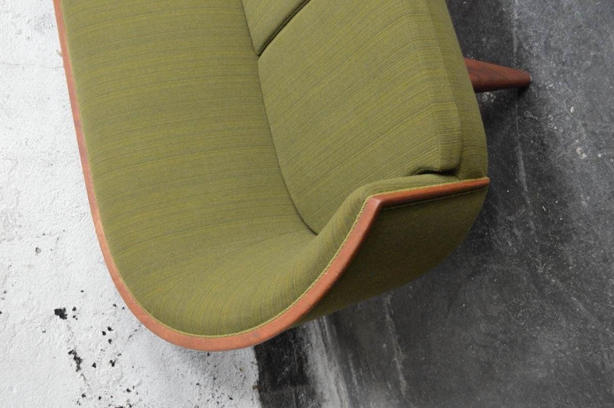 Mid-Century Modern Exquisite Rare Mid-Century Barrel Back Sofa For Sale