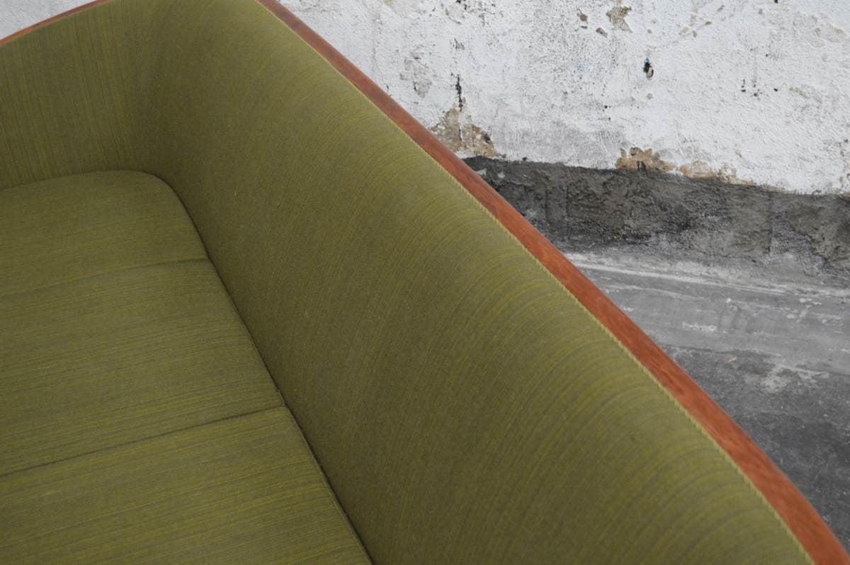 Mid-20th Century Exquisite Rare Mid-Century Barrel Back Sofa For Sale