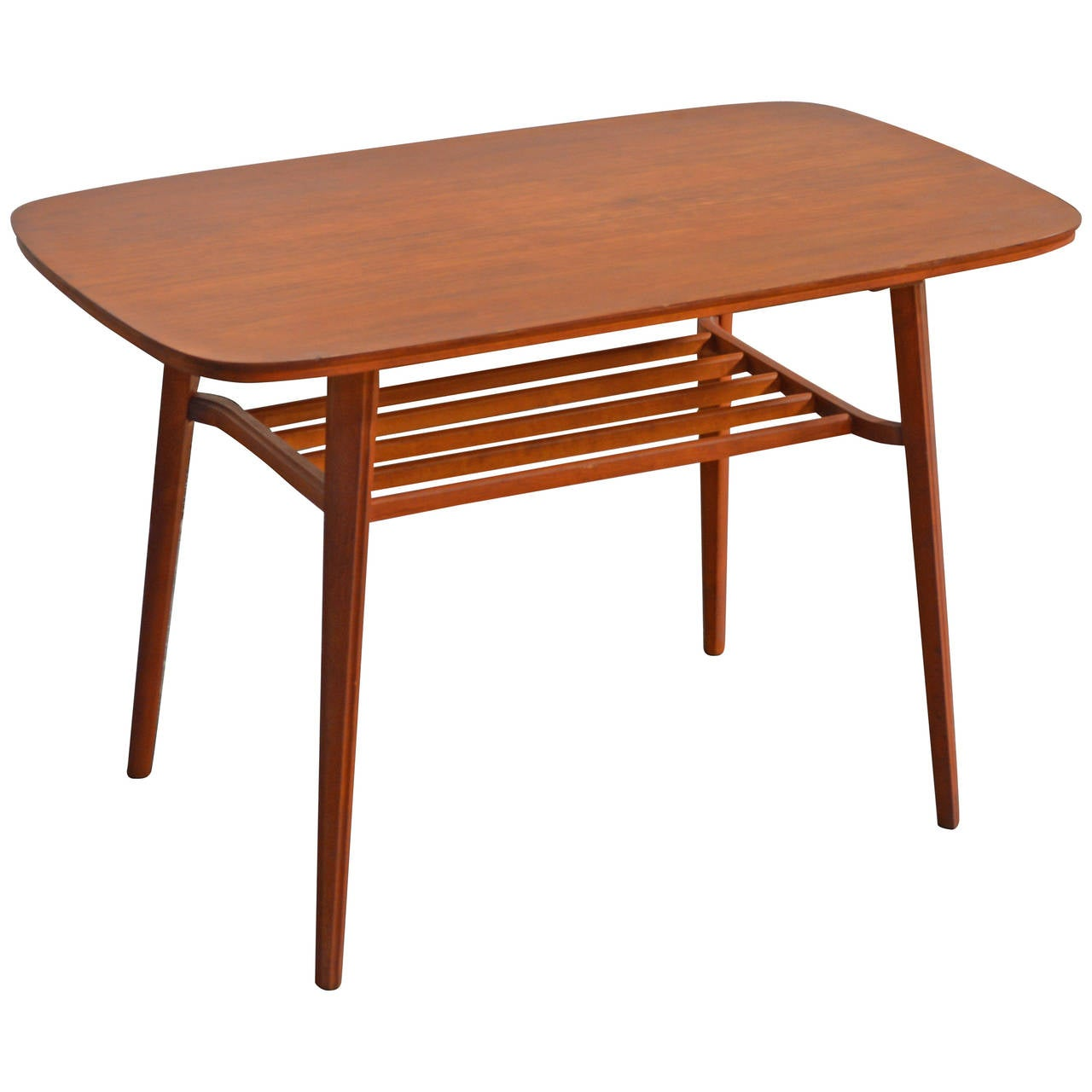 Swedish Mid-Century Teak Coffee Table For Sale At 1stdibs