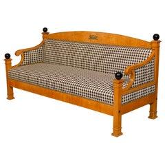 Swedish Empire Biedermeier Birch Sofa