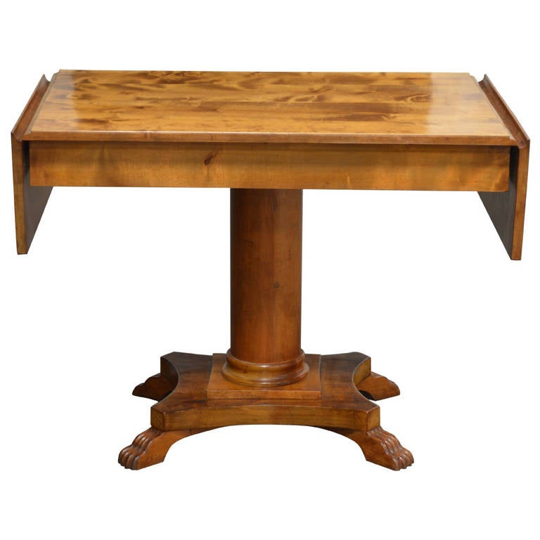 Swedish Karl Johan (Biedermeier), Drop-Leaf Center Table