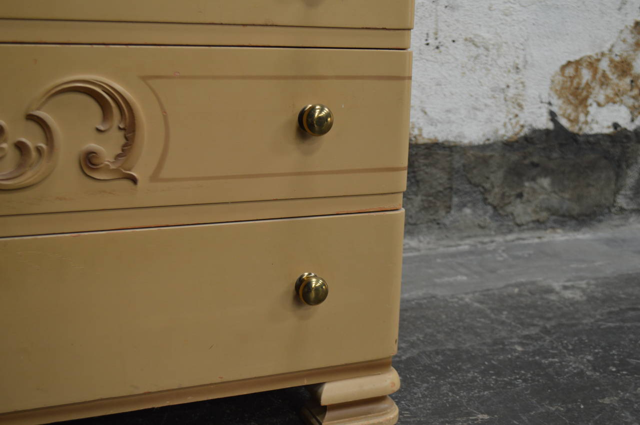 Swedish Art Deco Painted Chest of Drawers For Sale 5