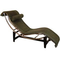 *SALE*  Le Corbusier LC4 Green Leather Chaise Longue