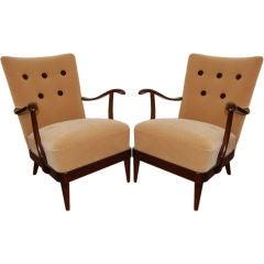 *SALE*  Pair of Vintage Swedish Art Moderne Arm Chairs
