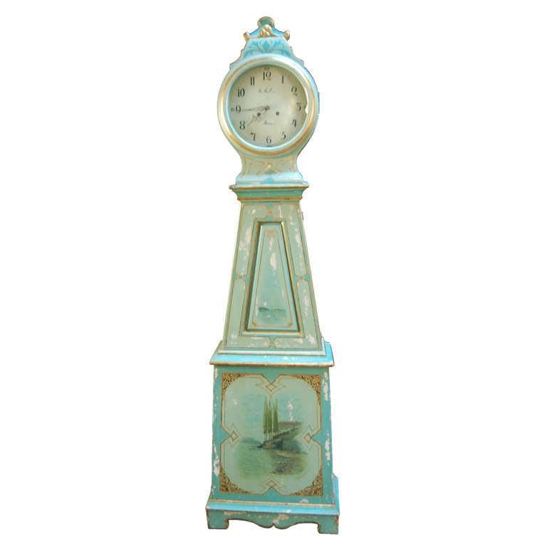 Swedish Gustavian Mora Floor Clock At 1stdibs