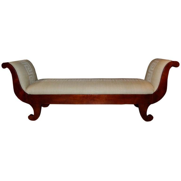 antique swedish biedermeier greek key recamier sofa settee. Black Bedroom Furniture Sets. Home Design Ideas