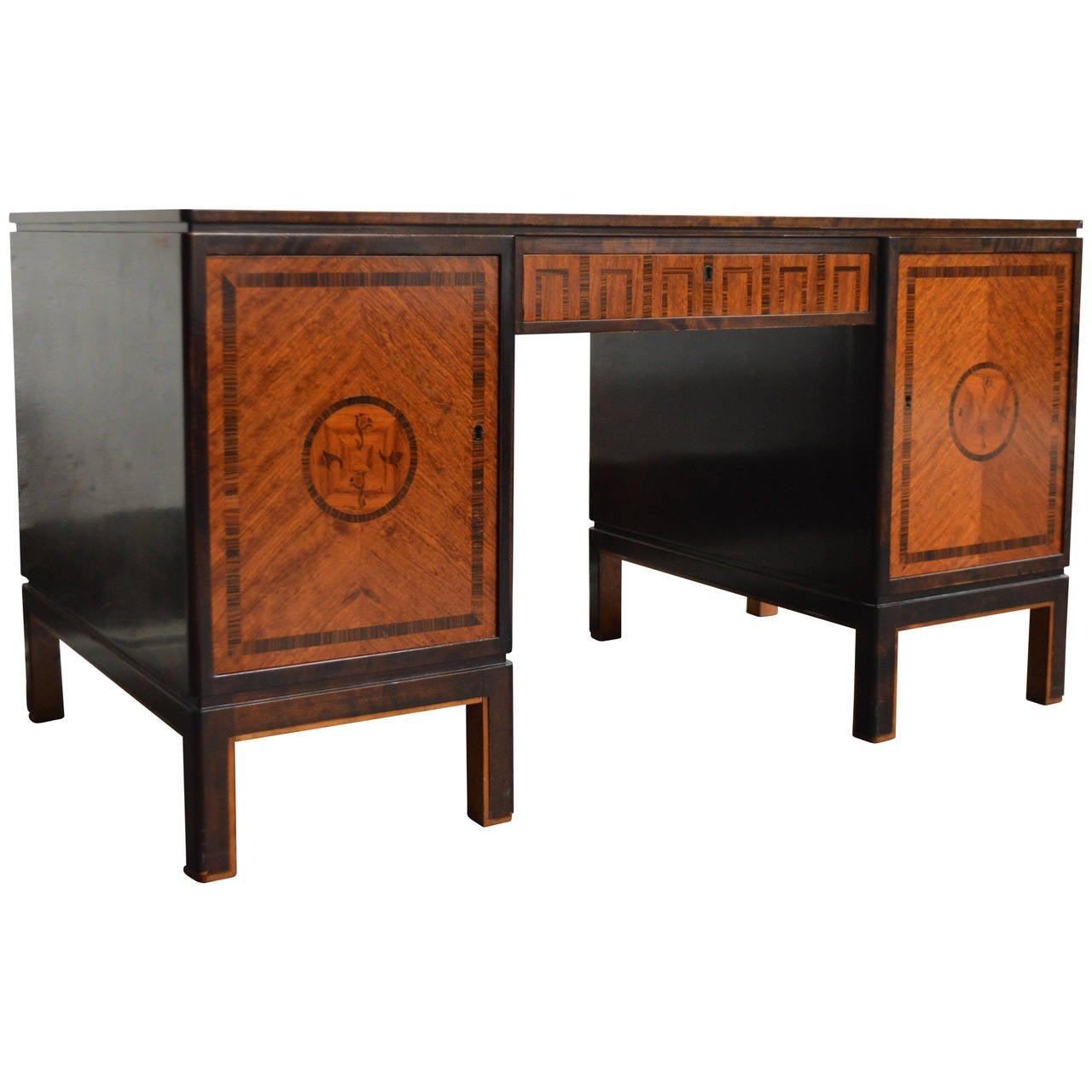 Carl Malmsten Swedish Grace Executive Desk For Sale at 1stdibs