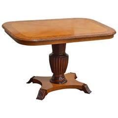 Swedish Adjustable Art Deco, Rectangular Golden Elm End or Side Table