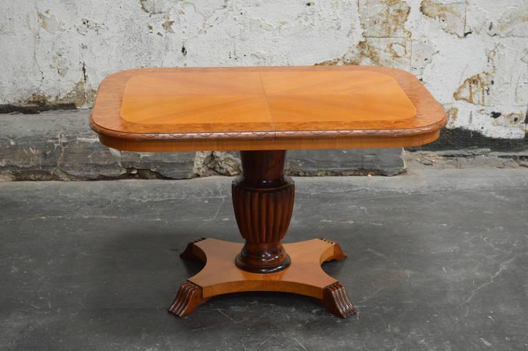 Swedish Adjustable Art Deco, Rectangular Golden Elm End or Side Table In Excellent Condition For Sale In Atlanta, GA