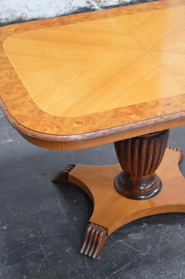 Mid-20th Century Swedish Adjustable Art Deco, Rectangular Golden Elm End or Side Table For Sale