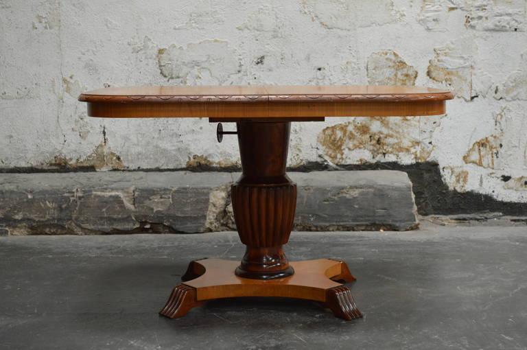 Swedish Adjustable Art Deco, Rectangular Golden Elm End or Side Table For Sale 2