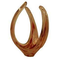 Swedish Art Glass Freeform Sculptural Vase