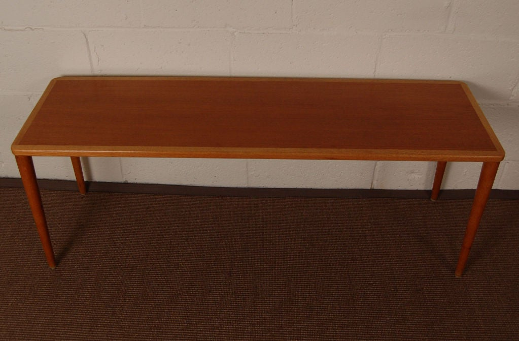mid century modern teak oak narrow coffee table small with shelf round ideas