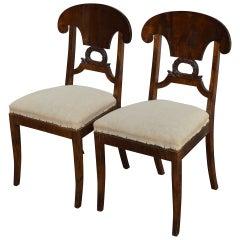 Pair of Swedish Karl Johan, Biedermeier Side Chairs COM Ready