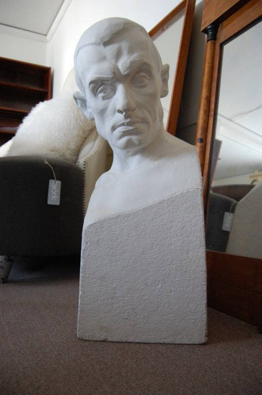 Handsome plaster sculpture of the famed Swedish artist Paul Engdahl created by Swedish artist/sculptor Rafael Radberg  (1881-1961).<br /> <br /> Radberg was born Erik Rafeal Radberg and was also known as Eric Raphael Unready.  He was well-known as