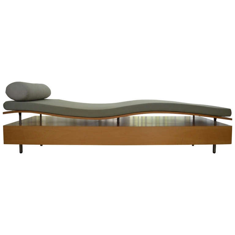 rare longitude chaise by maya lin for knoll at 1stdibs. Black Bedroom Furniture Sets. Home Design Ideas