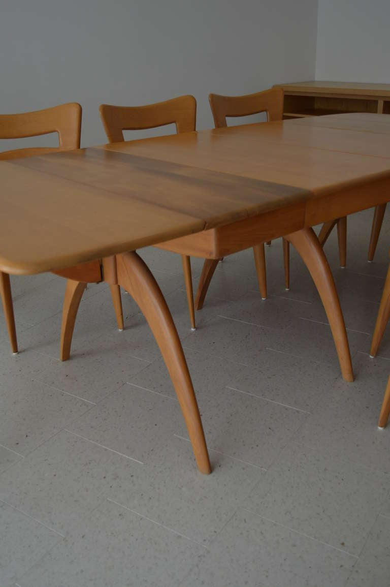 Sale Heywood Wakefield Wishbone Dining Table With 8