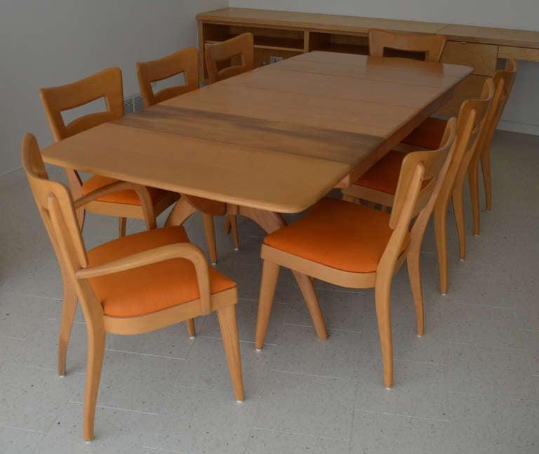 sale heywood wakefield wishbone dining table with 8